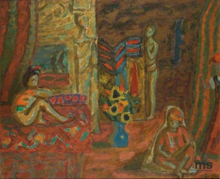 Piotr Potworowski (1898 – 1962). Odaliska - Hommage à Delacroix, 1945 |  Muzeum Sztuki w Łodzi