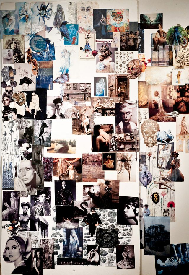 Love this Fashion Moodboard - huge artwall of style inspirations