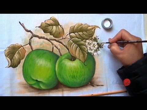 Maçãs Verdes em Tecido (Aula 65) - YouTube