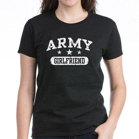 CafePress Army Girlfriend Women's Dark T-Shirt, Black