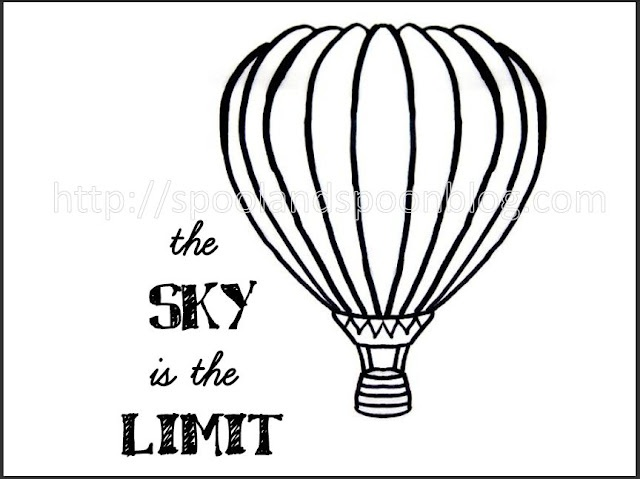 Spool And Spoon: Hot Air Balloon Embroidery Pattern {free