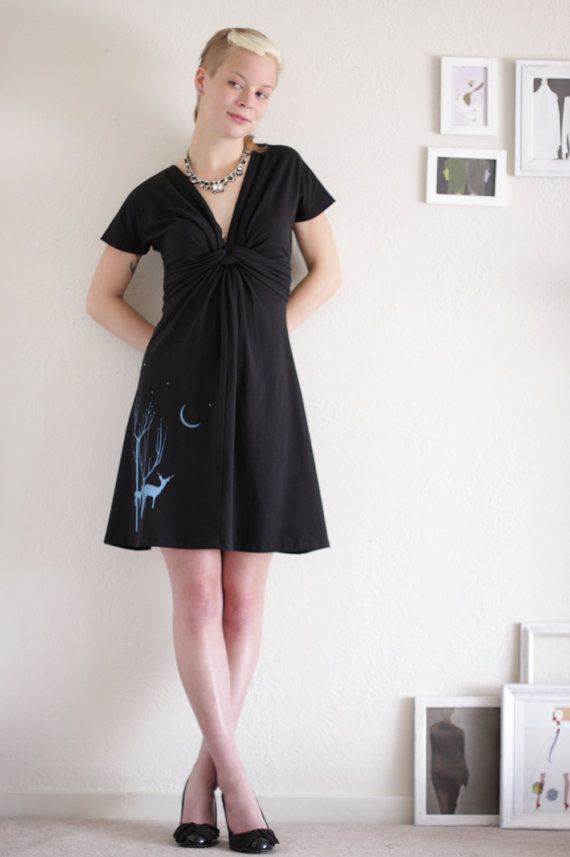 Womens jersey dress Knit dress Applique dress by Zoeslollipop