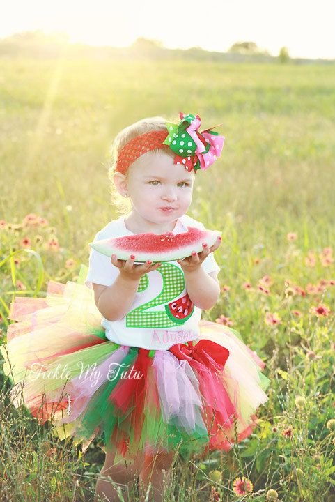 Watermelon Picnic BIrthday Tutu Outfit by TickleMyTutu on Etsy, $54.95