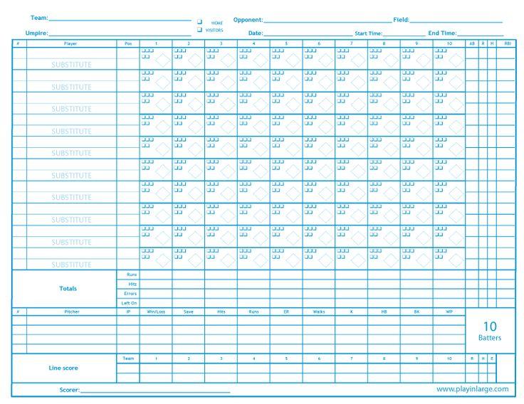 Best 25+ Softball scorebook ideas on Pinterest Trading card - softball score sheet template