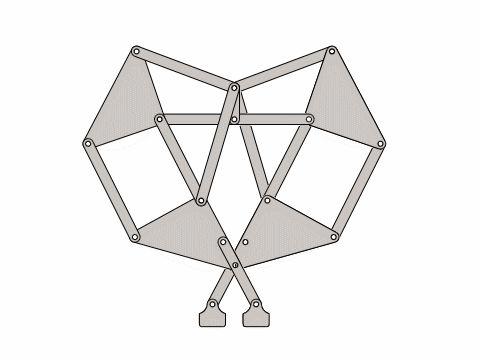 Theo Jansen Strand Beast Mechanism with Video Tutorial - STL - 3D CAD model - GrabCAD