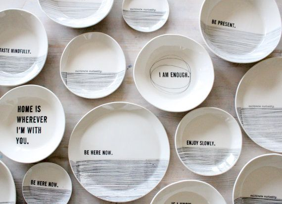 LOVE these!  ||  porcelain medium dish modern scre…
