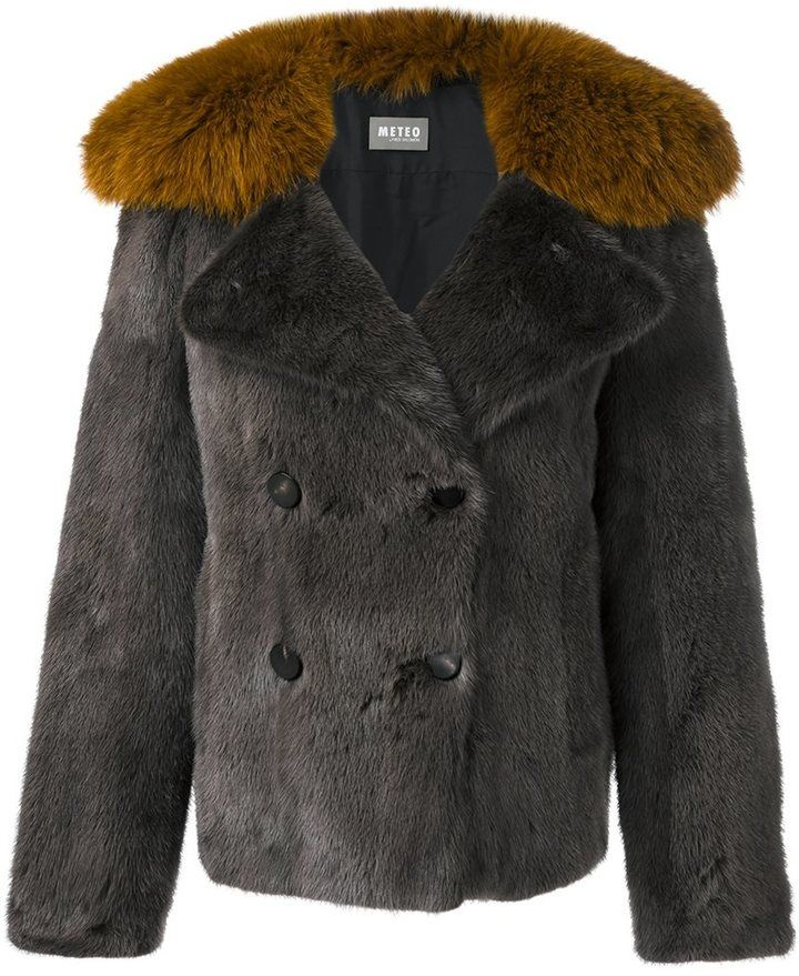 Meteo By Yves Salomon double breasted short coat