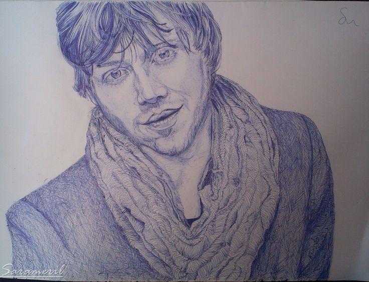 Rupert Grint- made with pen