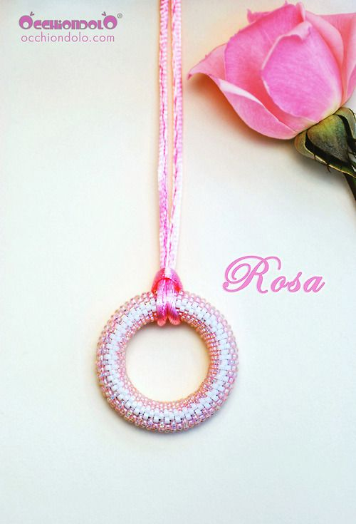"#spec-holder #necklace Occhiondolo ""Rosa"" #pink"
