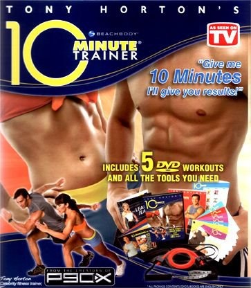 10 minute trainer - A workout that is short, sweet & to the sweaty point!  Get it at www.encouragefitness.net.