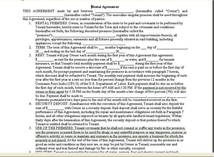 Printable Sample Room Rental Agreement Form Form Real