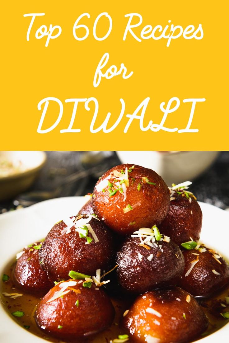 60 Recipes to make this Diwali compiled just for you. From sweets to snacks you would find everything here. Visit now and enjoy Diwali. Happy Diwali!