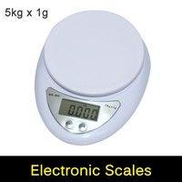 Digital Scale 5KG / 1G Postal Kitchen Cooking Food Diet Grams OZ LB 5000g Bench Scale Weight Descri