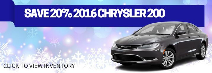 Save 20% off MSRP on 2016 Chrysler 200! Hurry- limited selection!