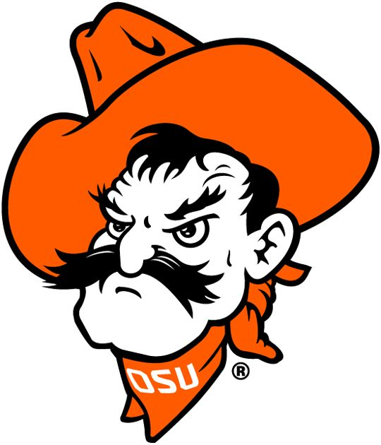The Secondary Logo of the Oklahoma State Cowboys (NCAA n-r) from 1973-Pres