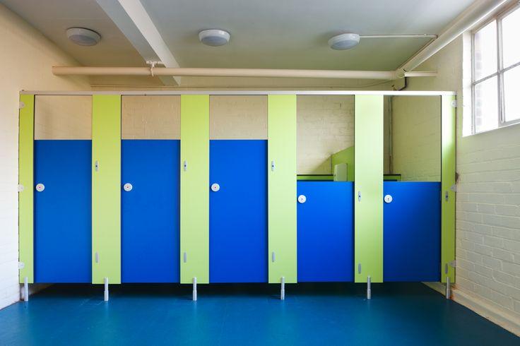 Education School Toilets Cubicles Colours Toilet