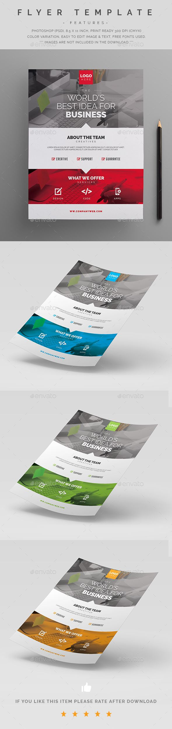 Business Flyer Template PSD                                                                                                                                                                                 More