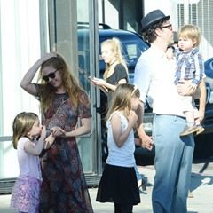 EXCLUSIVE Isla Fisher and Sacha Baron Cohen take their kids to lunch in Venice CA