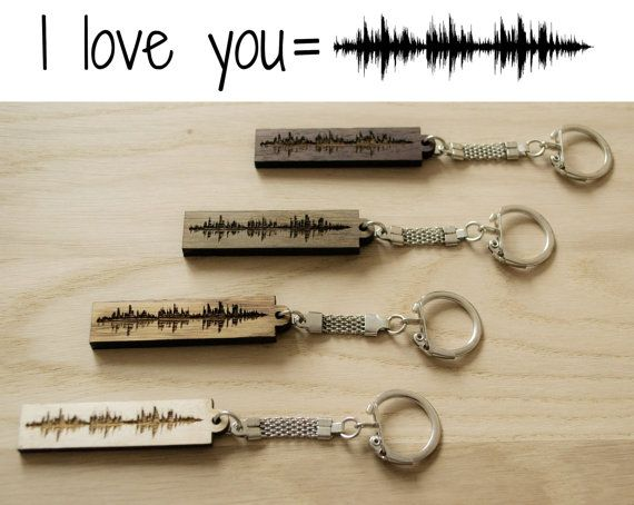 Sound Wave Keychain, Soundwave Keyring, Custom Voicewave, Personalized Voice Wave, Music Song Art for Turtledove, Gift for Him, Gift for Her