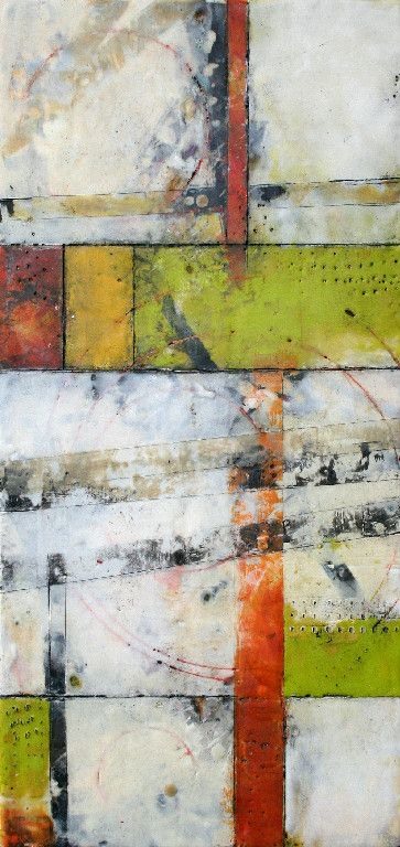 Brad Hook | Another Path | encaustic, mixed media on panel /sm