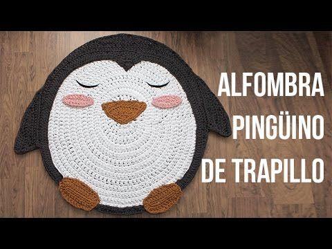 Tutorial #163: Alfombra Pingüino a Ganchillo ~ CTejidas [Crochet y Dos Agujas]