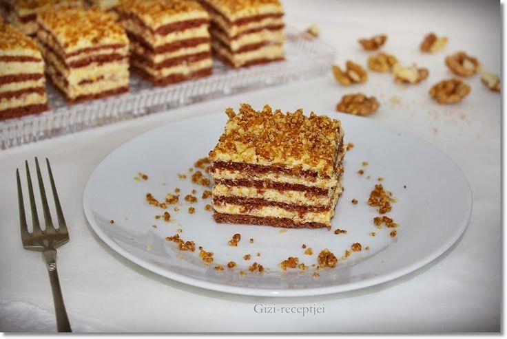 Gizi-receptjei. Várok mindenkit.: Karácsonyi krémes sütemény