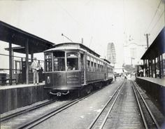 skinker trolley 1904 worlds fair | General Electric Company Streetcar system at the 1904 World's Fair.