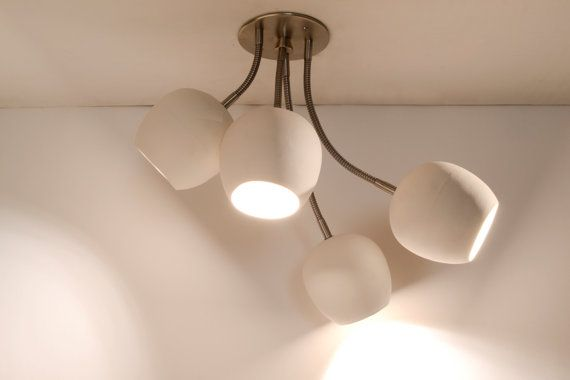 LED Bouquet  Ceiling light with four ceramic shades by lightexture, $488.00