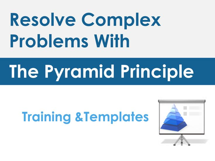 pyramid principle exercise Business communication instructor: dr rand fandrich paragraph exercise the paragraph is scrambled your assignment is to revise it for clarity and flow you will then write a paragraph explaining why you made the changes you made.