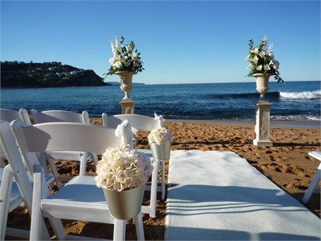 Sydney Beach Ceremony from Outdoor Wedding Aisles