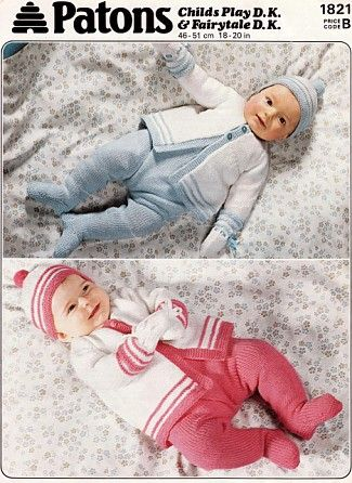 Vintage Patons Baby Knitting Patterns