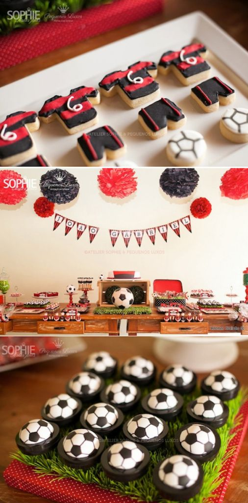 Soccer Party Ideas- Great example of how to incorporate your favorite teams colors!