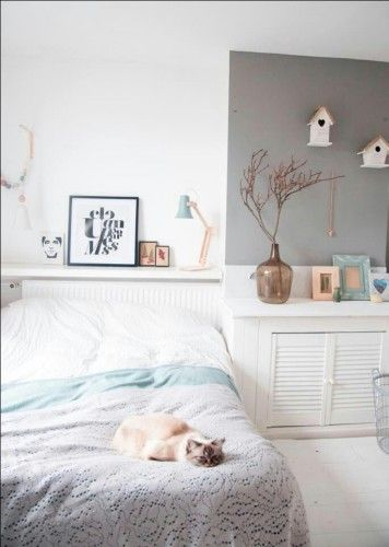 chat déco, chambre, bedroom, home, cat