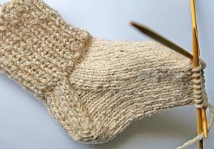 sock knitting tutorial