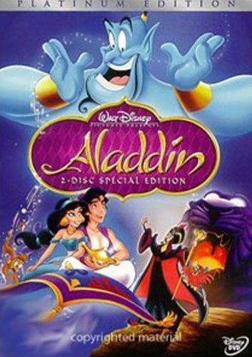 Aladdin Disney Special Platinum Edition DVD Two Discs     Low COST disney dvds
