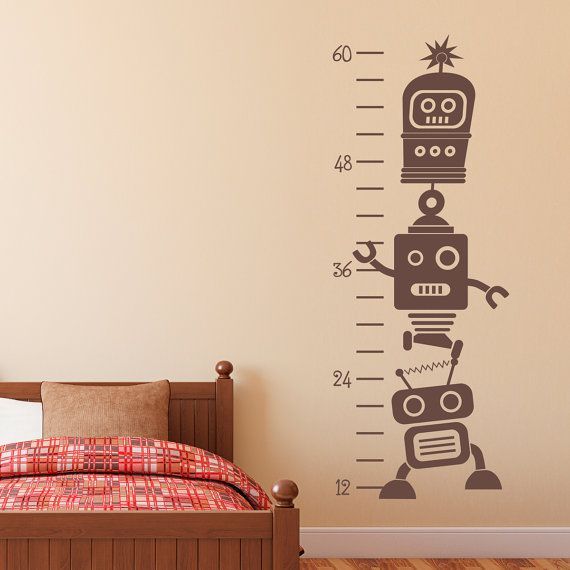 Growth Chart Wall Decal Robot Wall Decal by StephenEdwardGraphic, $30.00
