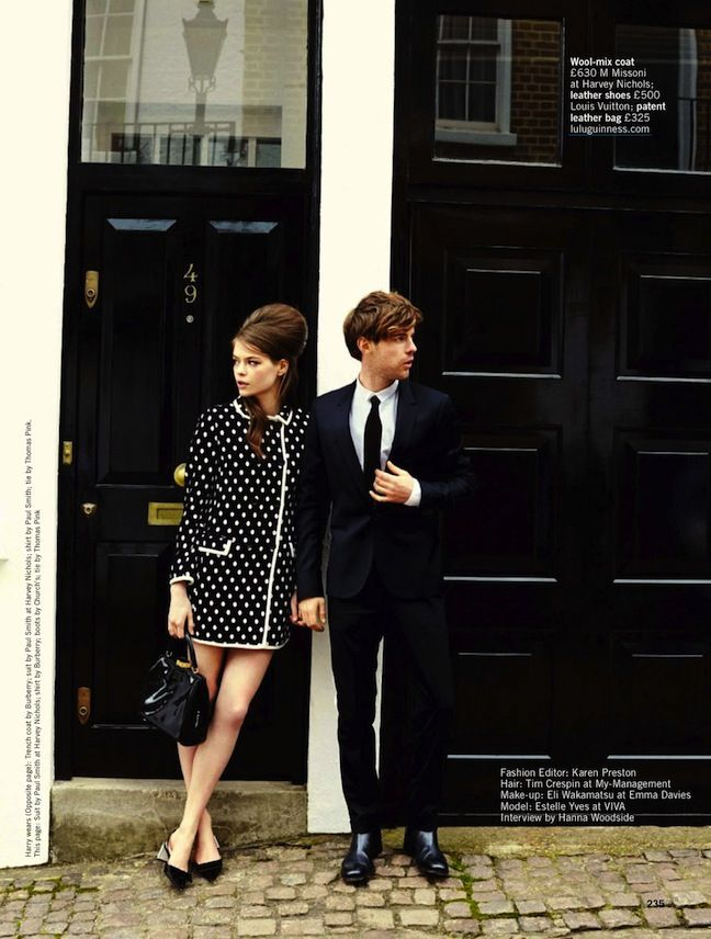 """Summer's Coolest Couple"": Estelle Yves and Harry Treadaway by Chris Craymer for Glamour UK June 2013"