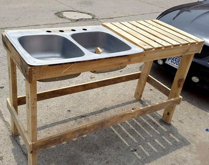Pallet Outdoor Sink Unit - 30 Pallet Projects That Will Make You Fall in Love | 99 Pallets - Part 2