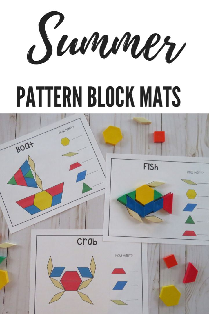 Summer Pattern Block Mats Pattern Blocks Pattern Blocks