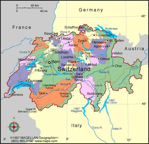 Switzerland   map switzerland switzerland profile history government economy ...
