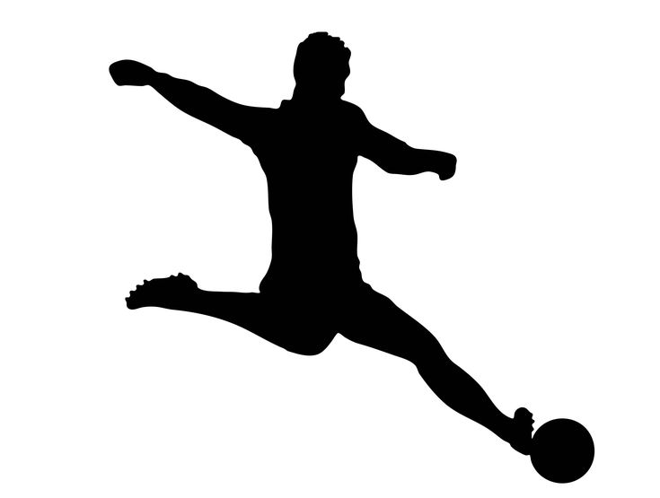 Male Soccer Player Silhouette - Svg Dxf Eps Silhouette Rld RDWorks Pdf Png AI Files Digital Cut Vector File Svg File Cricut Laser Cut
