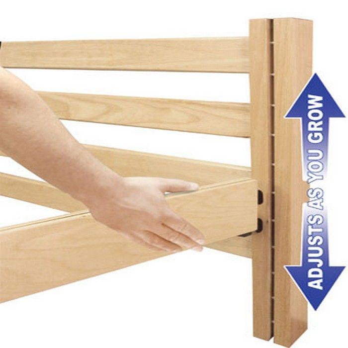college lofted bed | University Loft Graduate Series Twin XL Open Loft Bed Wild Cherry ...