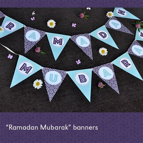 2015 Printable Ramadan Banner (PURPLE)