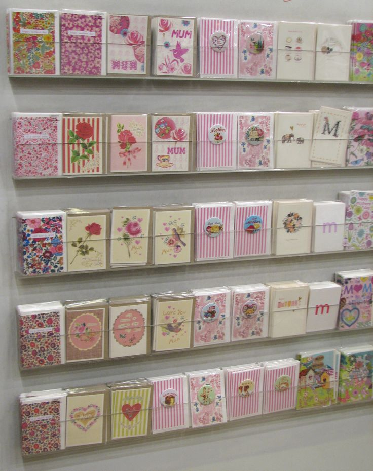 Lovely greetings card display