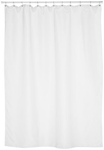 Carnation Home Fashions Fabric Extra Long Shower Curtain LinerExtra Size 70 Inches X 84 White