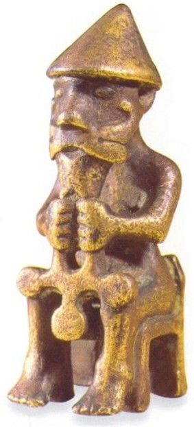 Thor statue with hammer 9th Century CE. Iceland