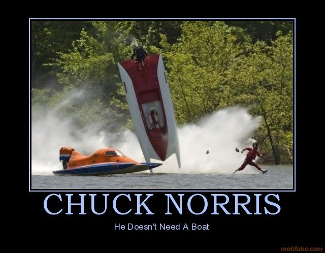 Chuck n'as pas besoin de #hors-bord  #Chuck doesn't need  a #boat