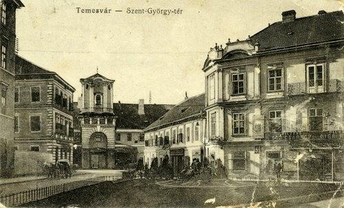 Timisoara - Piaţa Sfântul Gheorghe la începutul secolului XX