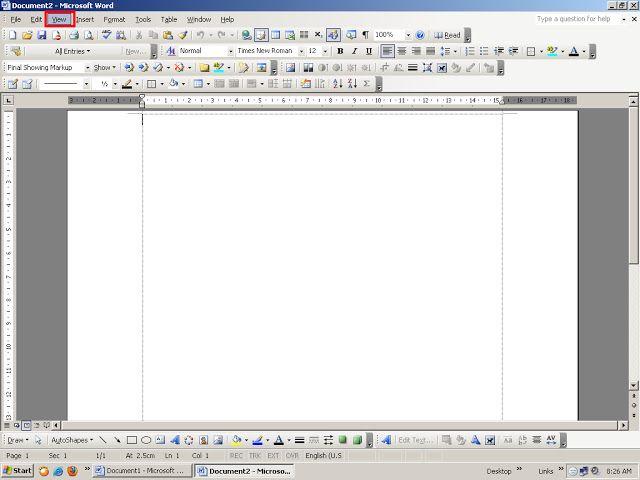 Tips Komputer CARA MENAMPILKAN RULER ( GARISAN BAWAH DAN SAMPING ) DI MS WORD 2003 | kursus komputer bogor,Tips Teknologi serta berita Internet komputer.