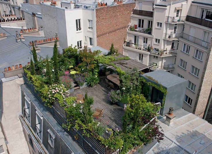 hugues peuvergne paysagiste / nid de verdure au coeur de la ville, 15ème